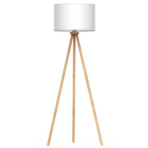 Tomons Stehlampe, Stehlampe Stativ aus Holz für das Wohnzimmer, Schlafzimmer und andere Zimmer, Skandinavischer Stil, 148 cm Höhe