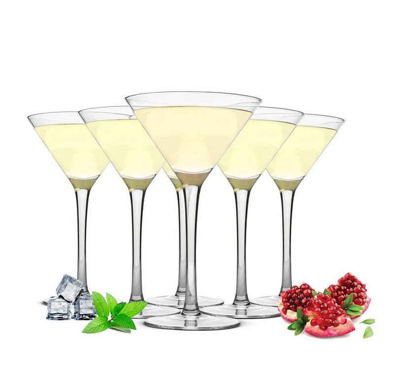 Sendez Martiniglas »6 Martinigläser 230ml Martinigläser Martinischalen Cocktailschale Cocktailgläser«, Glas