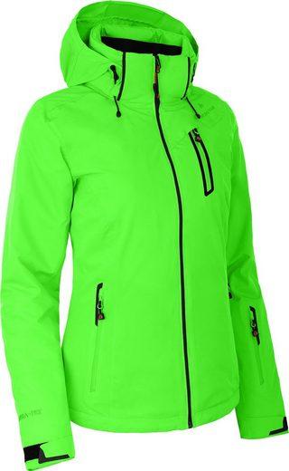 Bergson Skijacke »NICE« wattierte Damen Skijacke mit 20.000er Wassersäule, Kurzgrößen, Gecko grün
