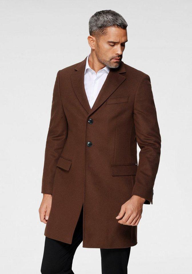 tommy hilfiger tailored -  Wollmantel »WOOL BLEND COAT« mit zusätzlich gesteppten Nähten