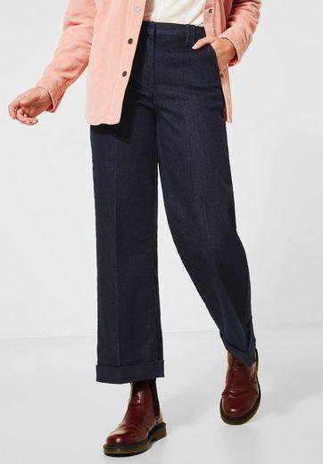 Cecil Loose-fit-Jeans mit Bügelfalte