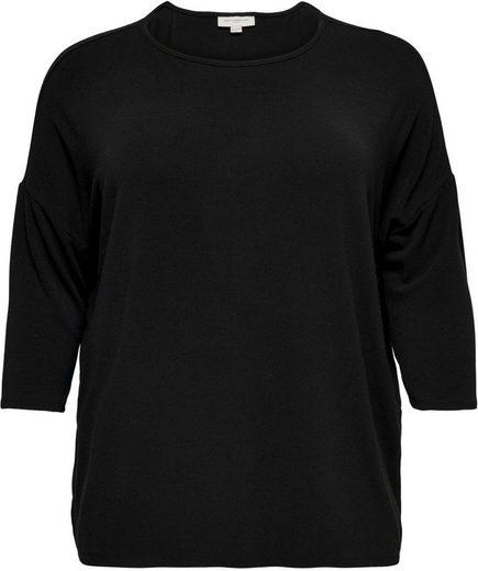 ONLY CARMAKOMA 3/4-Arm-Shirt »CARLAMOUR« aus weichem Materialmix