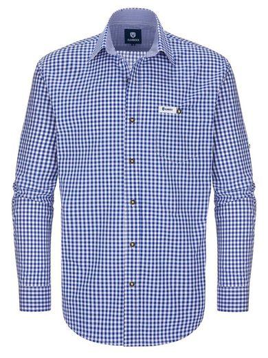 Almbock Trachtenhemd »Trachten Hemd Alois« blau-weiß-kariert