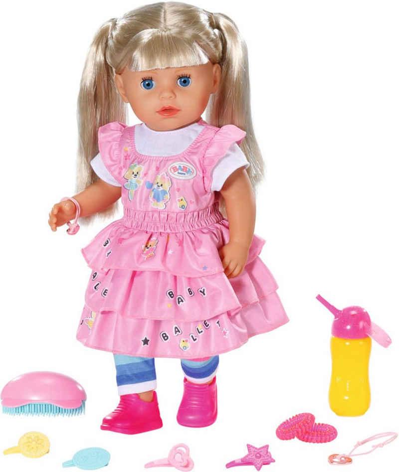 Baby Born Stehpuppe »Kindergarten Little Sister, 36 cm«, mit lebensechten Funktionen