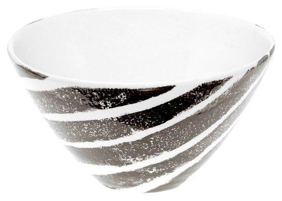 Lashuma Müslischale »Afrika«, Keramik, Servierschüssel tief, Runde Salatschale Ø 16 cm