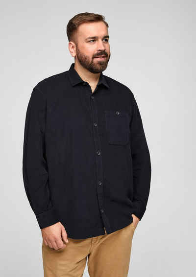 s.Oliver Men Big Sizes Langarmhemd »Regular: Hemd mit feiner Cordstruktur«