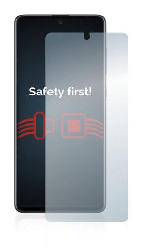 Savvies Schutzfolie »Panzerglas für Samsung Galaxy A71«, Schutzglas Echtglas 9H klar