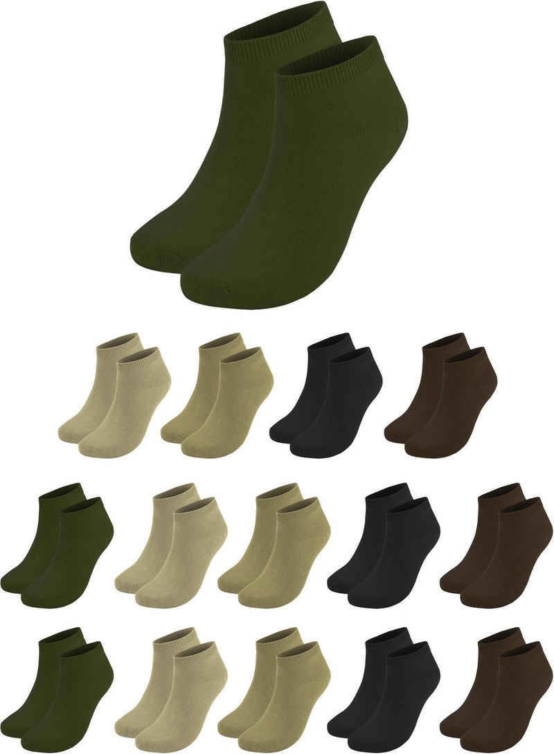 normani Sneakersocken »15 Paar Sneaker American« (3er-Set, 15 Paar) handgekettelte Spitze