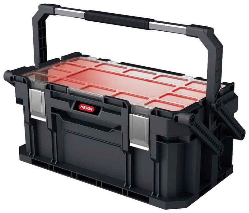 Keter Werkzeugbox »Connect«, Cantilever-Ausführung, rückseitige Stützbeine, komfortabler weicher Griff für bequemeren Transport