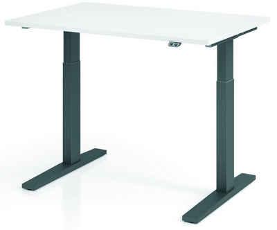 bümö Schreibtisch »OM-XMKA12«, elektrisch höhenverstellbar - Rechteck: 120x80 cm - Dekor: Weiß