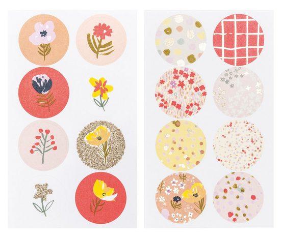 Rico-Design Verlag Sticker »Blumen«, 4 Bogen