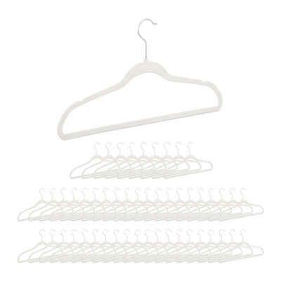 relaxdays Kleiderbügel »Kleiderbügel Samt weiß«