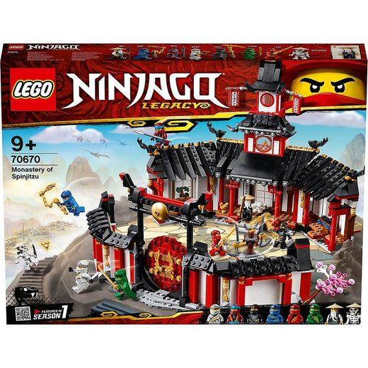 LEGO® Konstruktions-Spielset »LEGO® NINJAGO® 70670 Kloster des Spinjitzu«