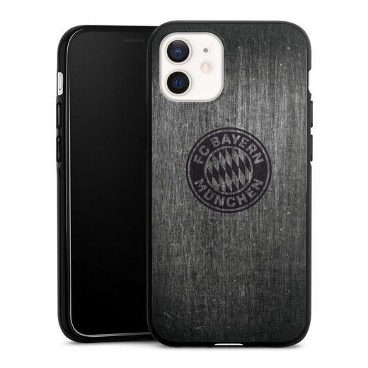 DeinDesign Handyhülle »Metalllook FCB Logo einfarbig« Apple iPhone 12, Hülle Metallic Look FCB FC Bayern München
