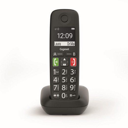 Gigaset »E290 schwarz« Festnetztelefon