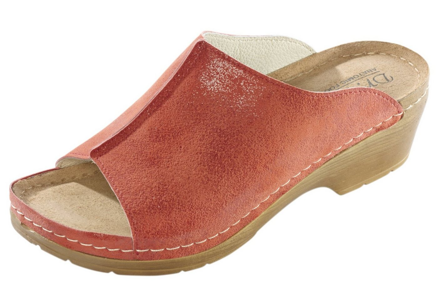 Clogs - Clogs mit Leder Innensohle › rot  - Onlineshop OTTO