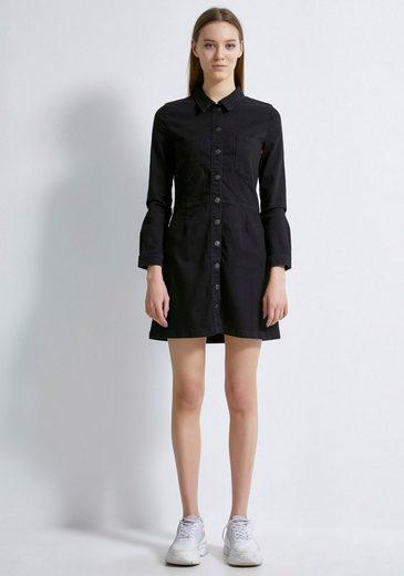 LTB Jeanskleid »HALSEY« mit aufgesetzten Brusttaschen in ausgestellter Form