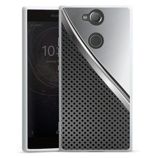 DeinDesign Handyhülle »Duo Metal Surface« Sony Xperia XA 2, Hülle Carbon Stahl Muster