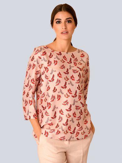 Alba Moda Bluse mit modischen Pumps Print