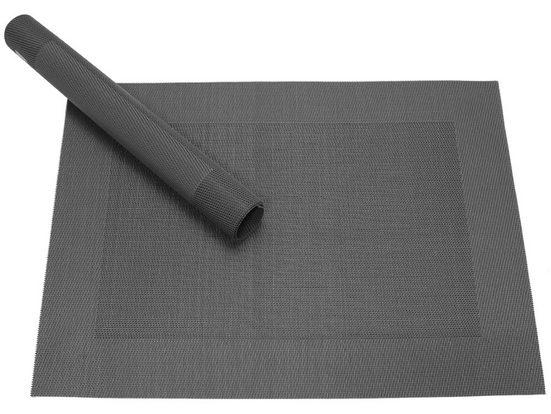 Platzset, »Tischset BORDA schwarz 1 Stk. 46 cm«, matches21 HOME & HOBBY