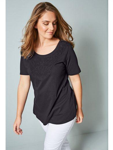 Janet & Joyce by Happy Size Shirt mit Spitze im Vorderteil