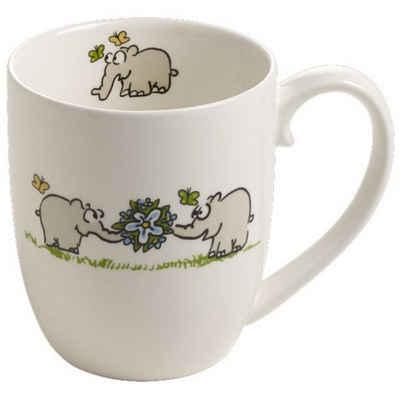 Ritzenhoff Tasse »Ritzenhoff Kaffeebecher - Ottifanten mit Blumen«