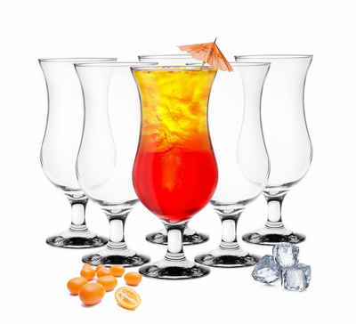 Sendez Cocktailglas »6 Stück Cocktailgläser 480ml Hurricane Trinkgläser Cocktailglas Longdrinkgläser«, Glas