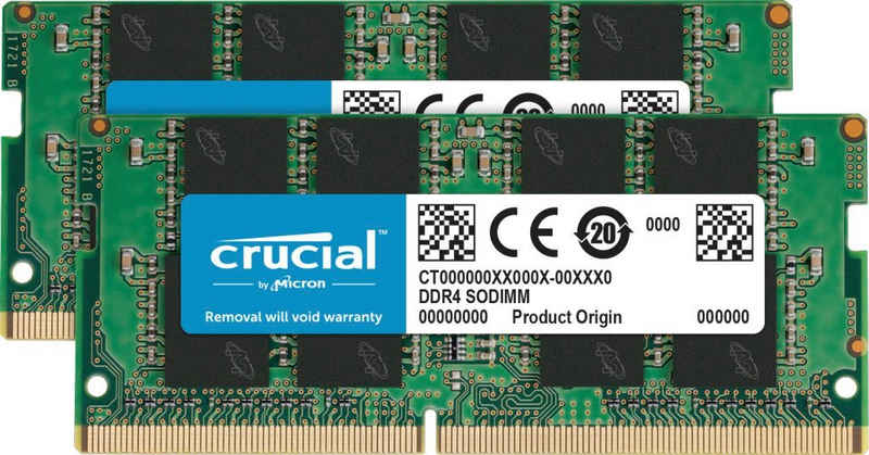 Crucial »32GB Kit (2 x 16GB) DDR4-3200 SODIMM« Laptop-Arbeitsspeicher