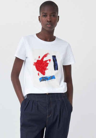 Salsa Kurzarmshirt »SAMARA« Regular T-Shirt Short Sleeve
