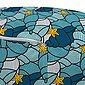 Abakuhaus Pouf »dekorative weiche Fußstütze und Reißverschlusshülle osmanisches Wohn-und Schlafzimmer«, Nautisch Seesterne und Muscheln, Bild 3