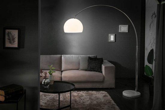 riess-ambiente Bogenlampe »LOUNGE DEAL 175-205cm weiß«, höhenverstellbar