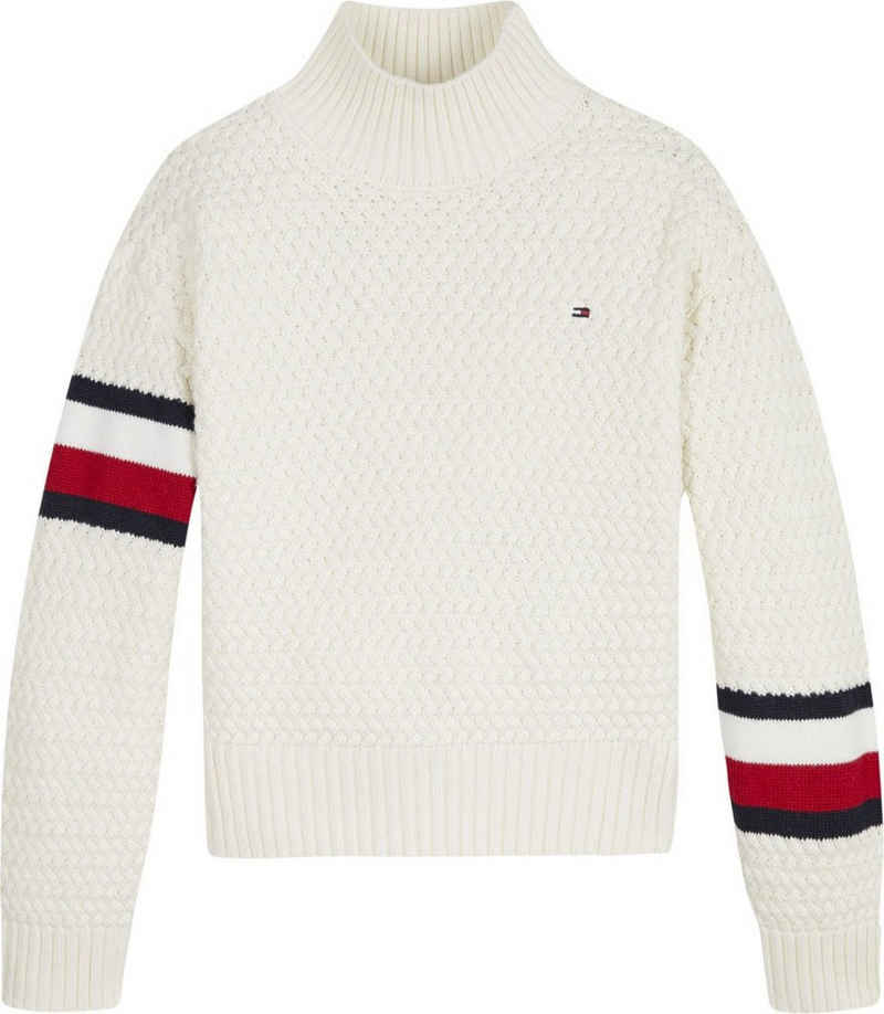 Tommy Hilfiger Strickpullover »CHUNKY CABLE MOCK NECK«