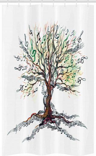 Abakuhaus Duschvorhang »Badezimmer Deko Set aus Stoff mit Haken« Breite 120 cm, Höhe 180 cm, Musik Herbst Natur-Baum-Strudel