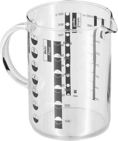 WMF Messbecher »Gourmet«, Glas, Kleinstmengen genau ablesbar. Angabe der Messskalen in Liter, Milliliter, Tassen und Gramm