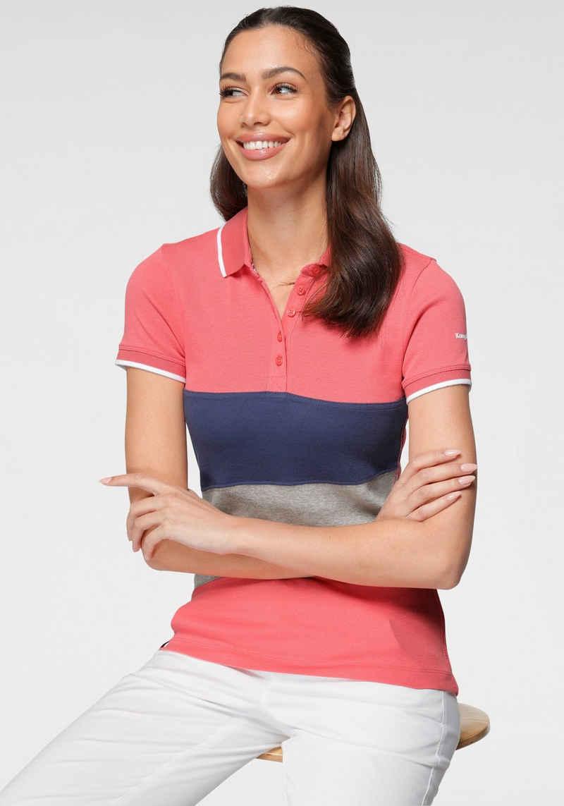 KangaROOS Poloshirt mit Colorblocking