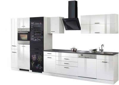 HELD MÖBEL Küchenzeile »Trier«, mit E-Geräten, Breite 390 cm