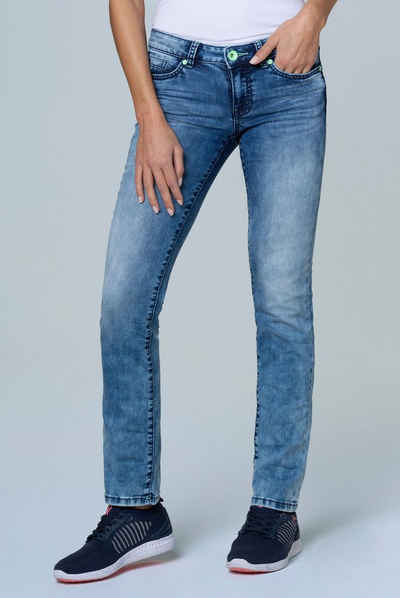 SOCCX Slim-fit-Jeans »RO:MY« mit toller Sun Used Waschung