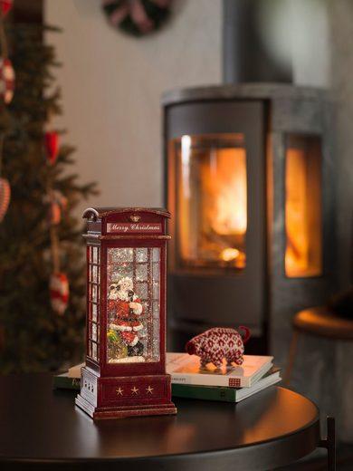 KONSTSMIDE LED Laterne, LED Telefonzelle mit Weihnachtsmann