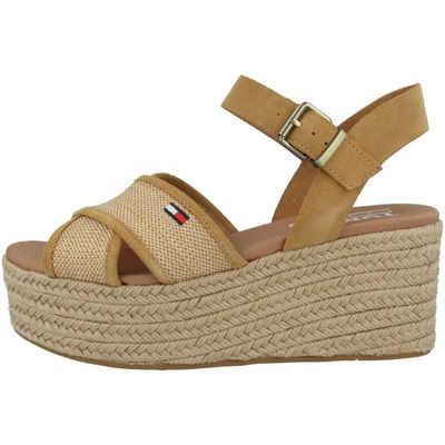 Tommy Hilfiger »Tommy Jeans Natural Suede Flatform Sandal« Sandale