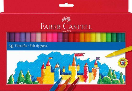 Faber-Castell Dekorierstift »Filzstifte, 50 Farben«