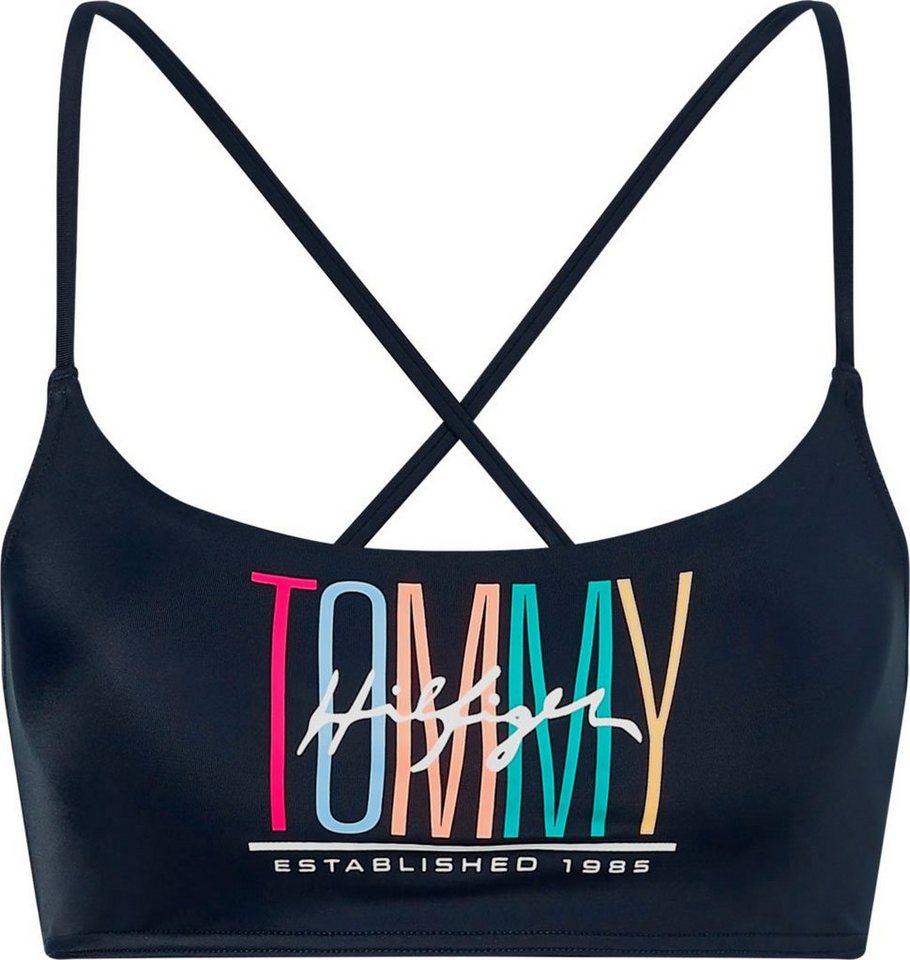 Bademode - Tommy Hilfiger Bustier Bikini Top, mit geschnürtem Rücken › blau  - Onlineshop OTTO