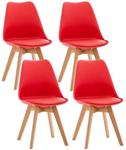 CLP Küchenstuhl »Linares« (4er Set), mit Buchenholz Gestell und modernes Design