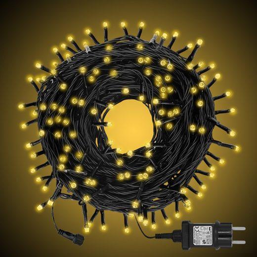 interGo LED-Lichterkette »Lichtervorhang lichternetz LED-Leuchtermittel Weihnachtsbeleuchtung Weihnachstsdeko«, 200-flammig