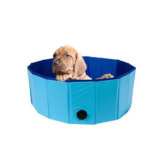 ALIC LIFE Schwimmbecken »Aufstellpool«, faltbarer Pool für Kinder oder Haustiere. Durchmesser 80 cm, Höhe 20 cm. Aus robustem und rutschfesten PVC. Mit praktischem Auslassventil. Leicht und platzsparend zusammenfaltbar