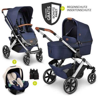 ABC Design Kombi-Kinderwagen »Salsa 4 - Diamond Edition - Navy«, (9-tlg), 3in1 Kinderwagen-Set - inkl. Babyschale Tulip & XXL Zubehörpaket - Kollektion 2021