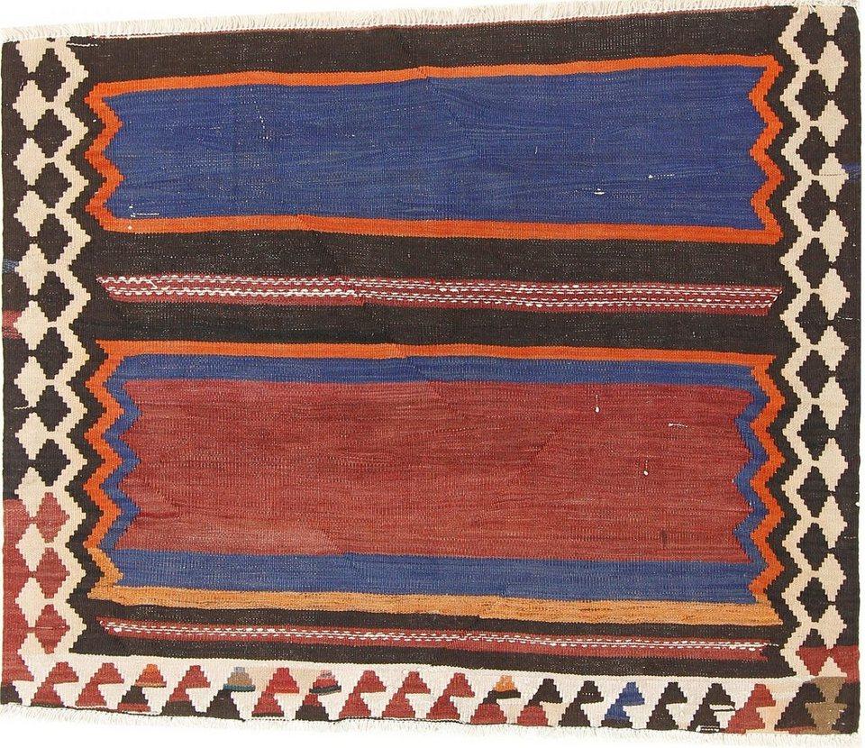 Orientteppich »Perser Kelim Fars Azerbaijan Antik 110x110 Handgewebt  Orientteppich«, Nain Trading, Höhe 10.10 mm online kaufen   OTTO