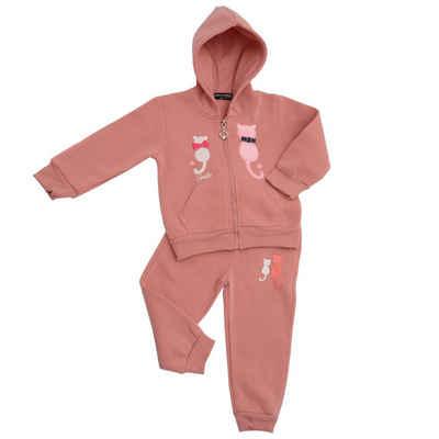 ANELY Sweathose »2923« Kinder Trainings Anzug mit Katzen Motiv Zweiteiler Hoodie Hose