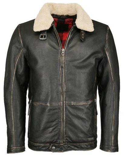 MUSTANG Lederjacke »31019258« mit abnehmbarem Fake Fur Kragen