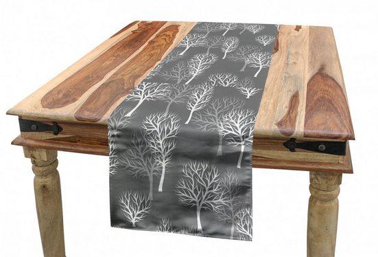 Abakuhaus Tischläufer »Esszimmer Küche Rechteckiger Dekorativer Tischläufer«, Wald Winter Eco Laubbäume