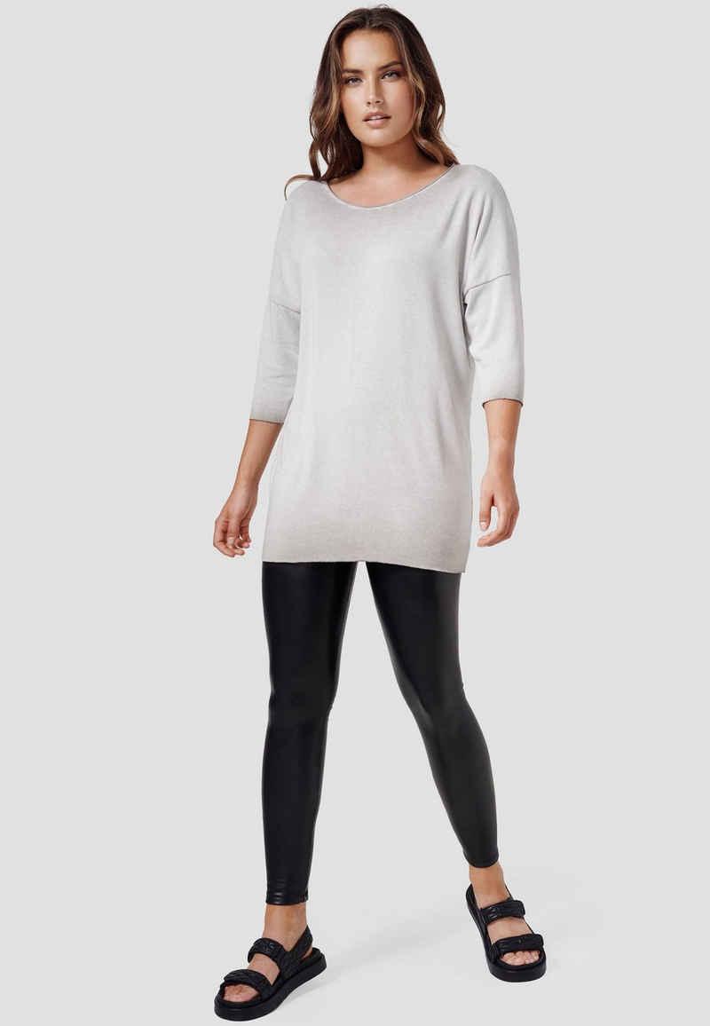 Cotton Candy T-Shirt »RACHELLE« in trendiger Strickoptik